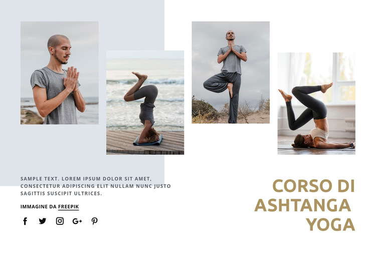 Corso di Ashtanga Yoga Modello di sito Web