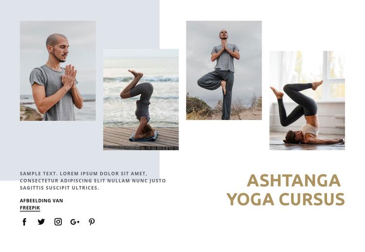 Ashtanga yoga cursus Website sjabloon