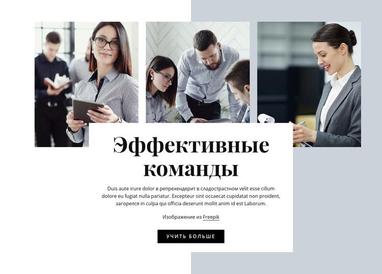 Эффективная команда HTML шаблон