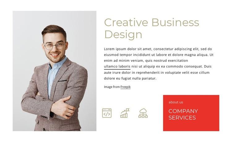 Creative business design Web Page Design