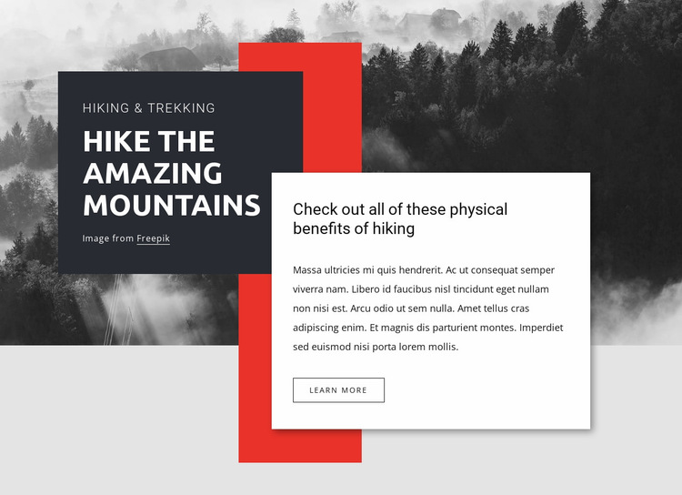 Hike the amazing mountains Website Builder Templates