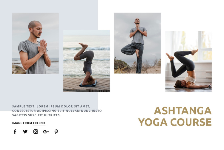 Ashtanga yoga course Website Builder Software