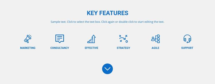Marketing, agile, strategy Website Mockup