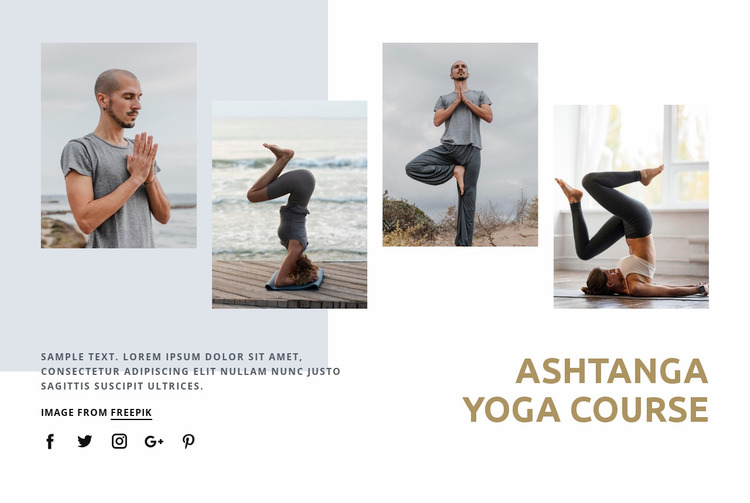 Ashtanga yoga course Website Mockup