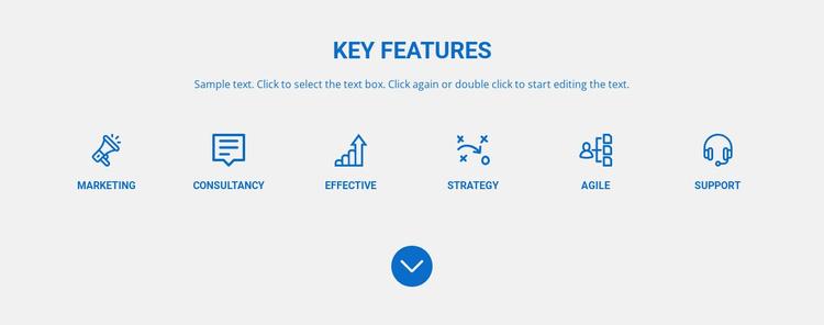 Marketing, agile, strategy Website Template