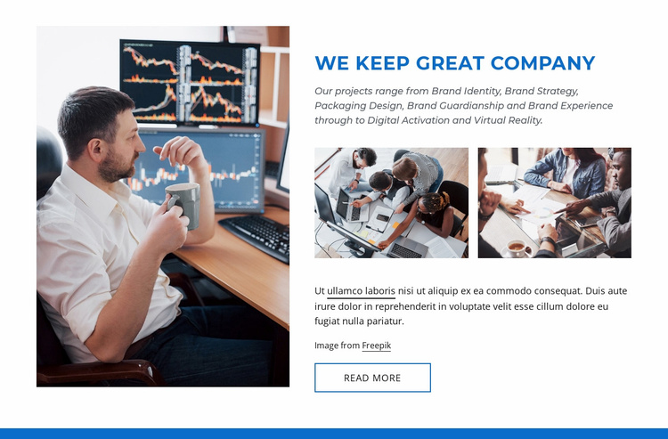 Great company Website Template