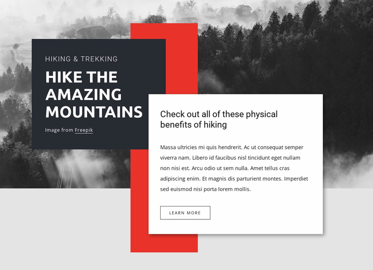 Hike the amazing mountains Website Template