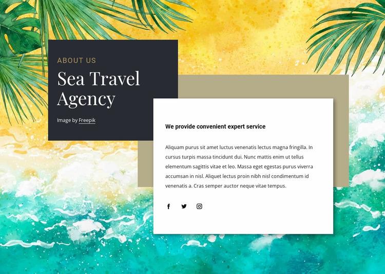 Sea travel agency WordPress Website Builder