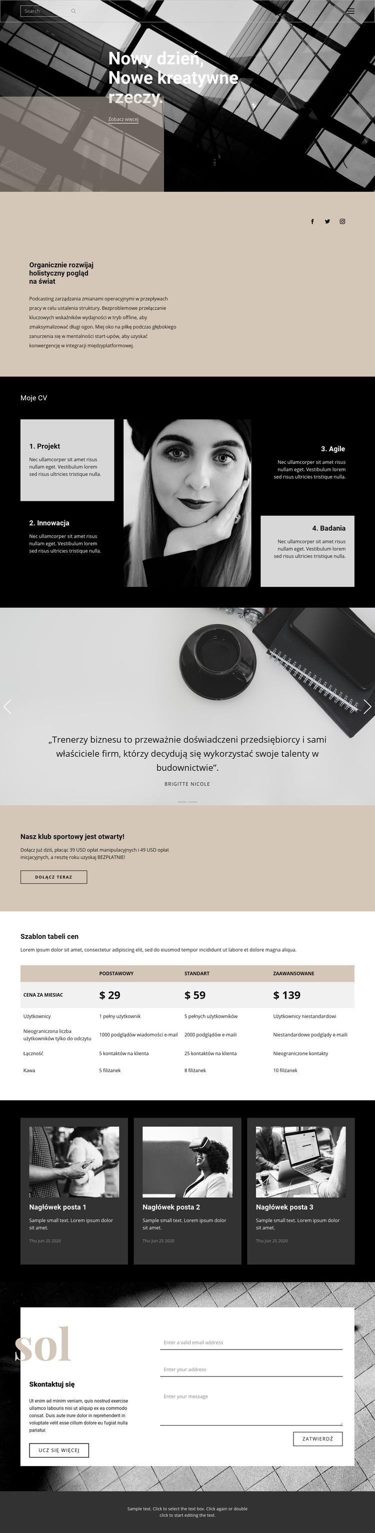 Gdzie założyć firmę Szablon witryny sieci Web