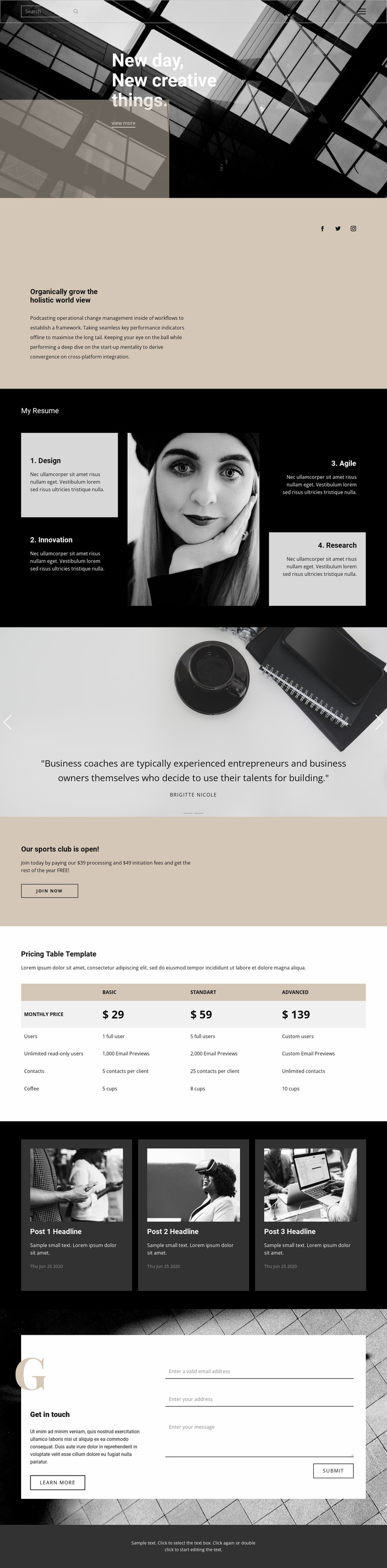 Where to start a business Website Mockup