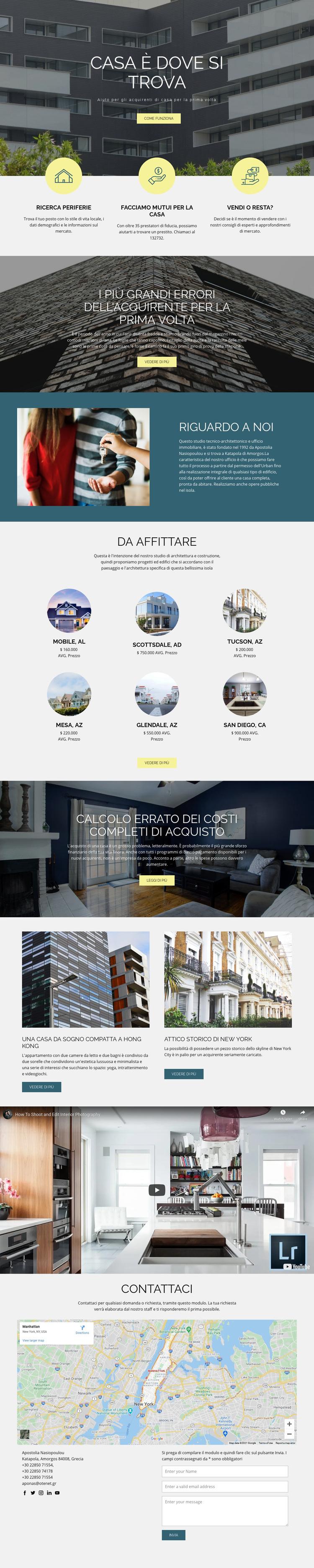 Casa immobiliare Tema WordPress