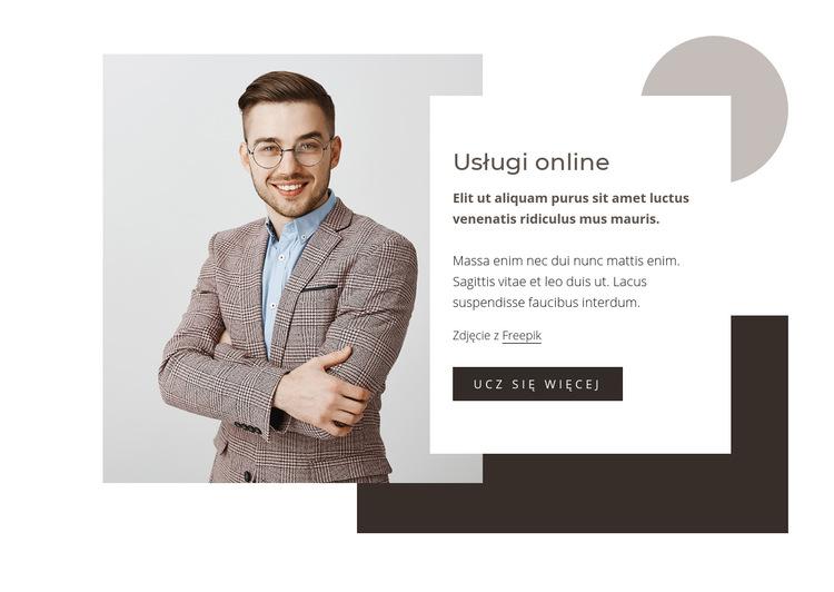 Usługi analizy danych Szablon witryny sieci Web