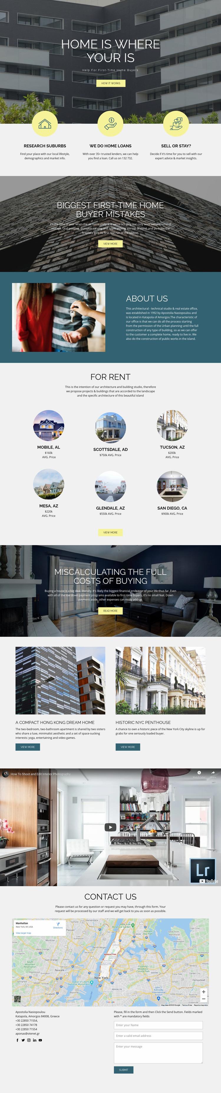 Home real estate Web Page Designer