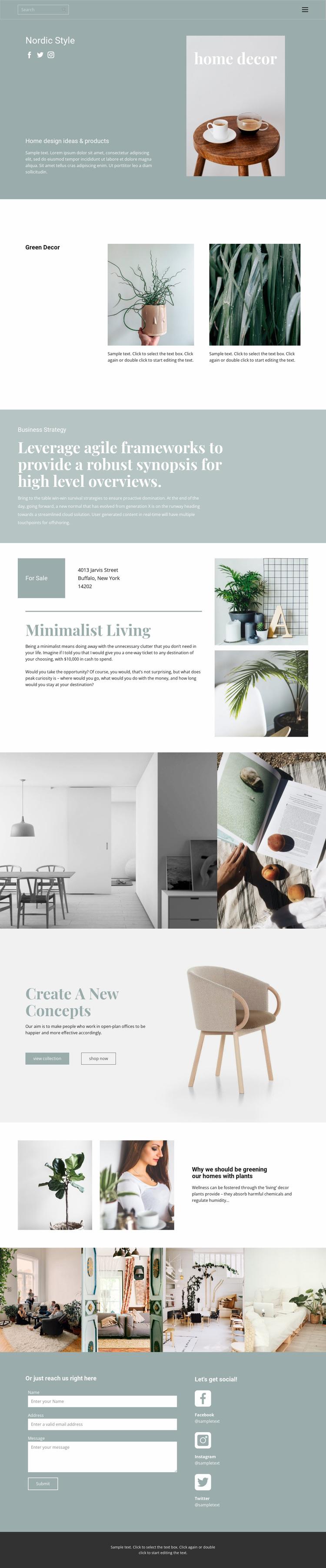 Help interior designer Landing Page
