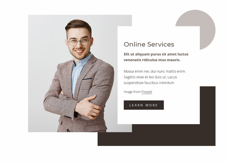 Data analysis services Website Template