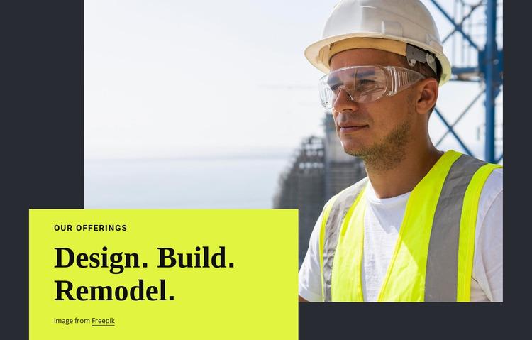 Design, buid, remodel Html Website Builder