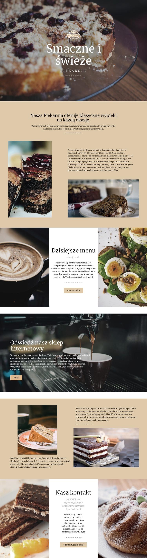 Smaczne i świeże jedzenie Szablon witryny sieci Web