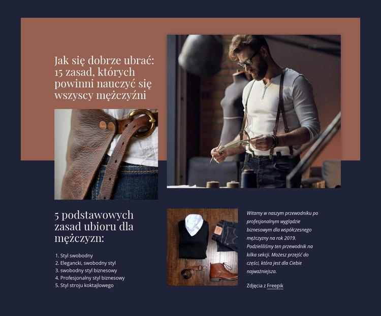 Rozwój odzieży Szablon Joomla