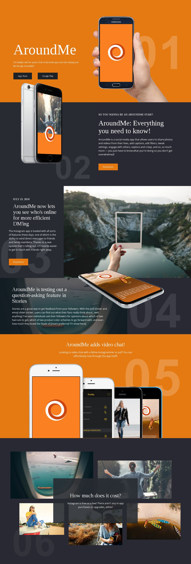 Everything is technology Website Mockup