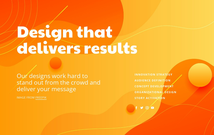 Designing results Website Template