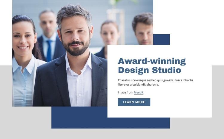 Award winning design studio Html Code Example