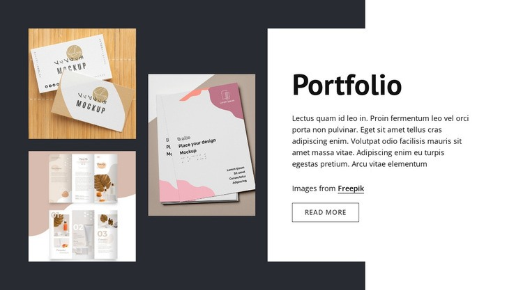Design studio portfolio Web Page Designer