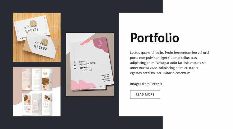 Design studio portfolio Website Mockup