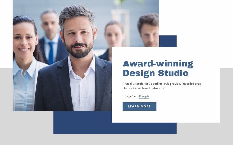 Award winning design studio Website Mockup