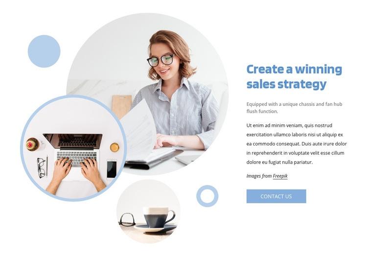Winning sales strategy Homepage Design