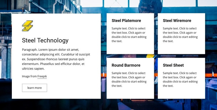 Steel technology Homepage Design