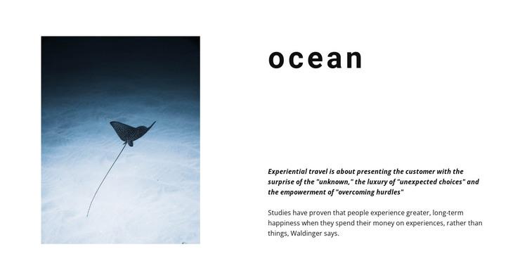 Incredible ocean life HTML Template