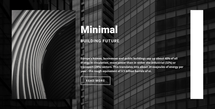 We build to last HTML Template