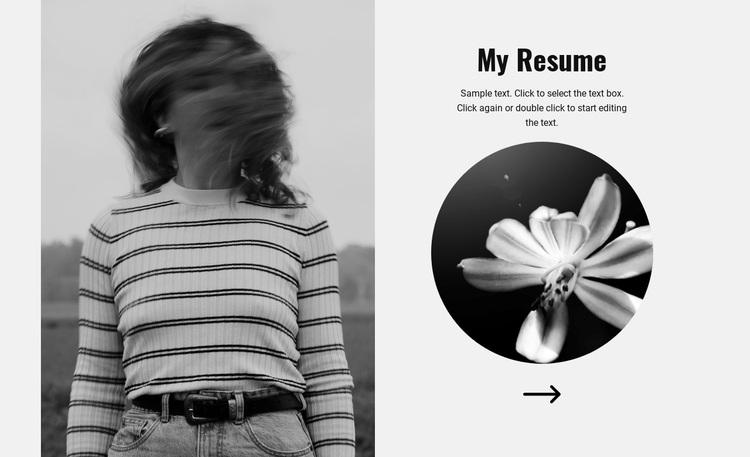Explore my resume Joomla Page Builder