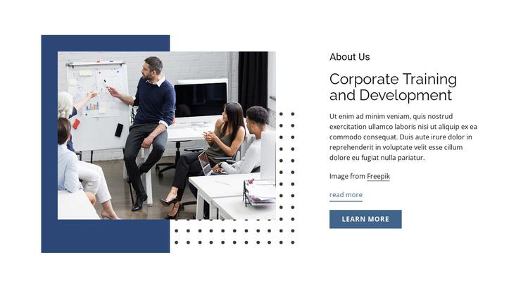 Corporate training and development Joomla Template