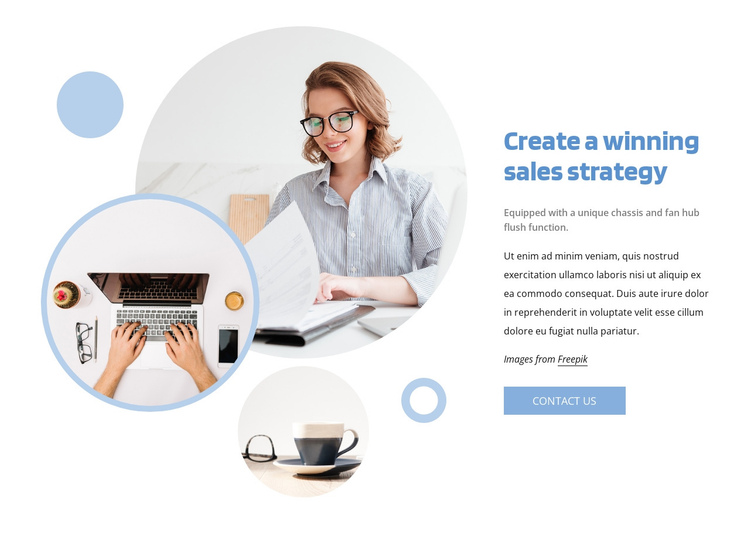 Winning sales strategy One Page Template