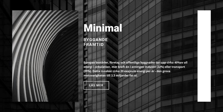 Vi bygger för att hålla Webbplats mall