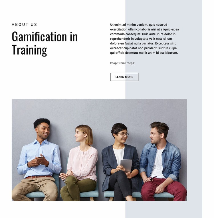 Gamification in business training Web Page Design