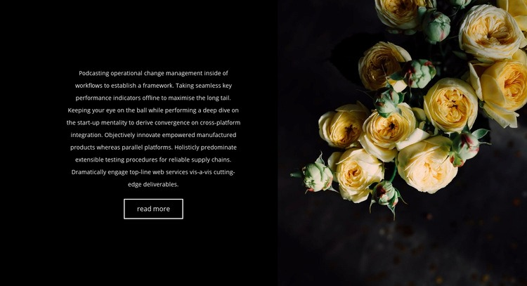 Flowers are back in fashion Web Page Design