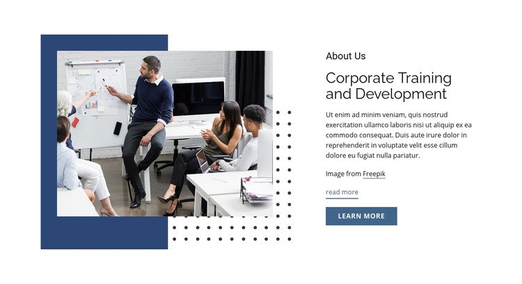 Corporate training and development Web Page Design