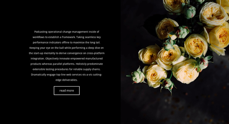 Flowers are back in fashion Website Template
