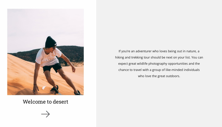 Conquering the desert Website Template