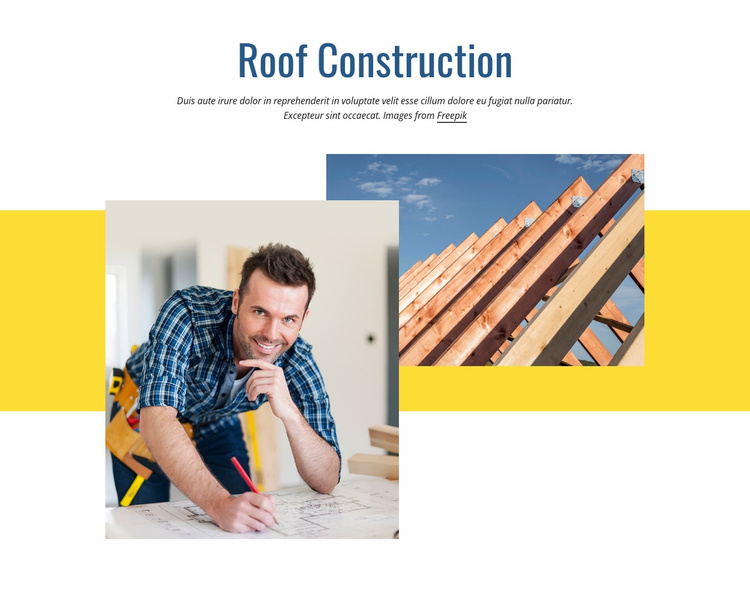 Roof construction Website Template