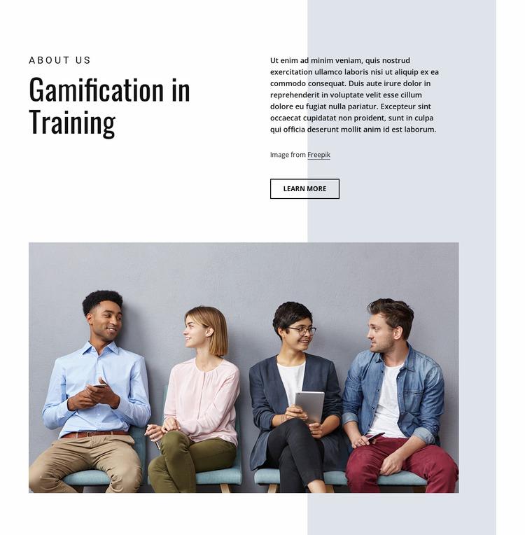 Gamification in business training WordPress Website Builder