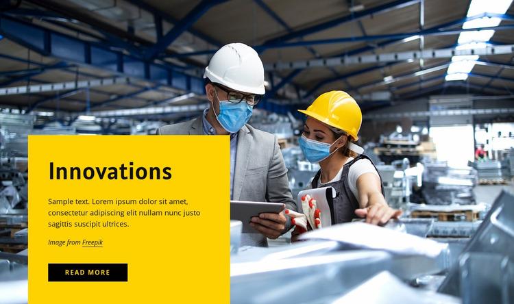 7 manufacturing innovation trends Website Mockup