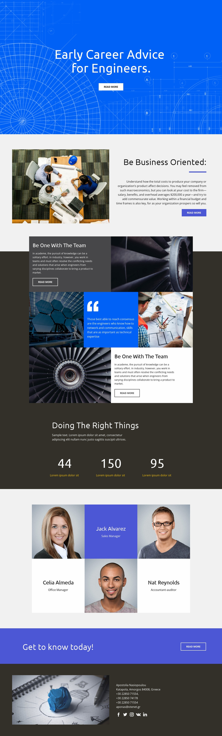 Advice for Engineers Website Template