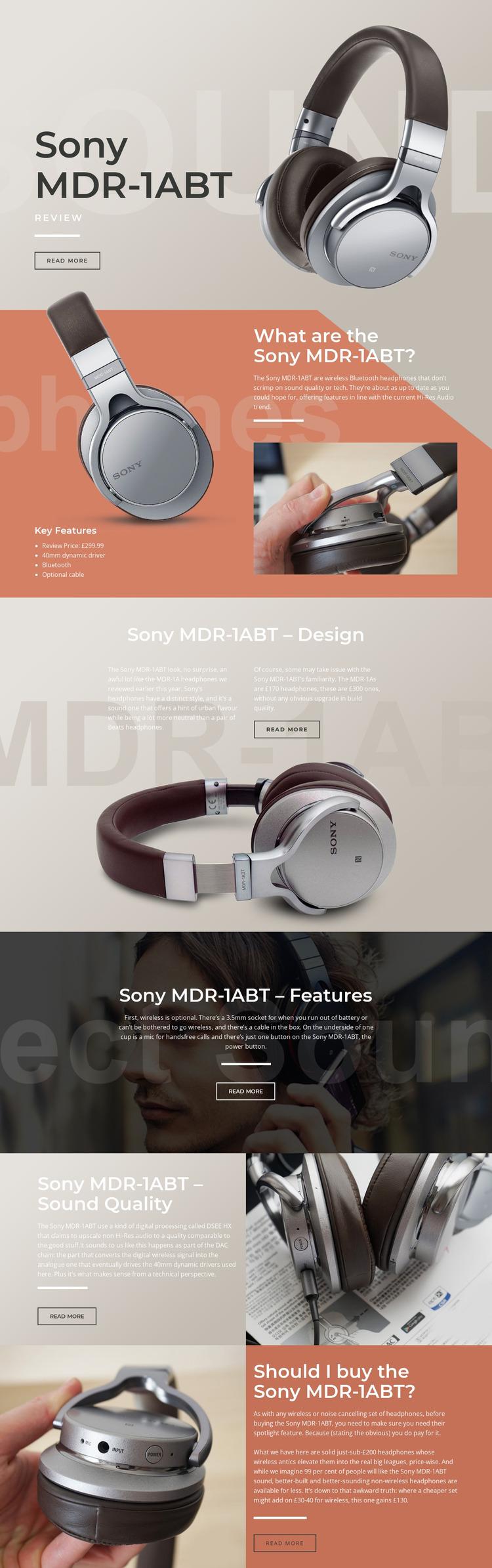 Listening your favorite music Html Website Builder