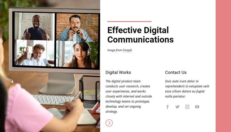 Effective digital communications HTML Template