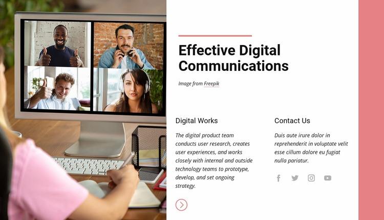 Effective digital communications Website Mockup