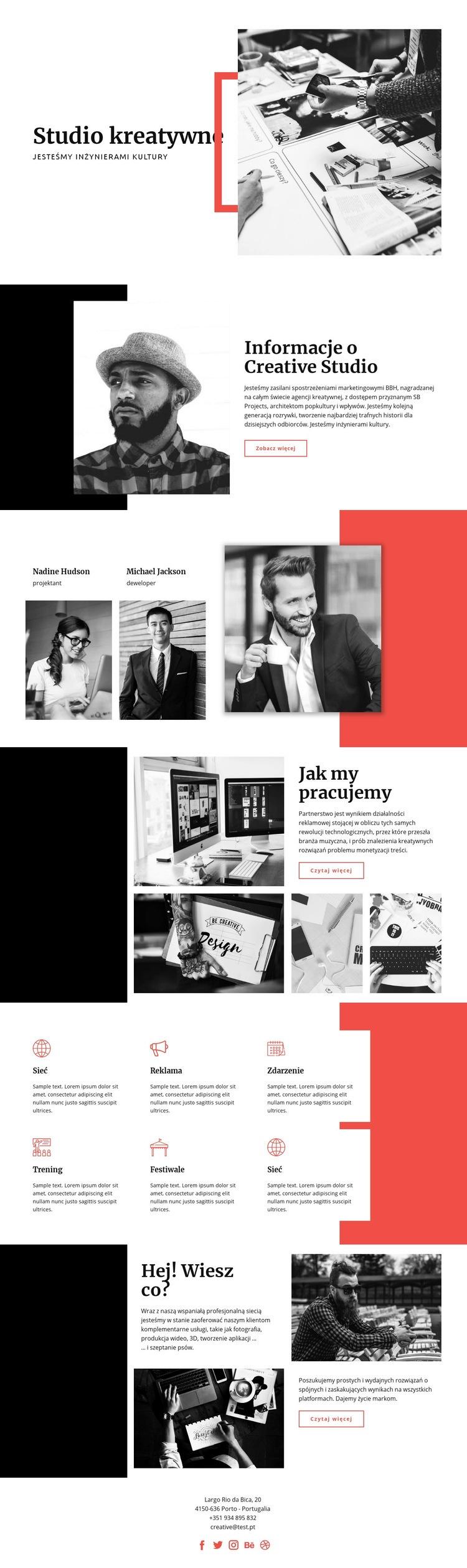 Studio kreatywne Szablon witryny sieci Web