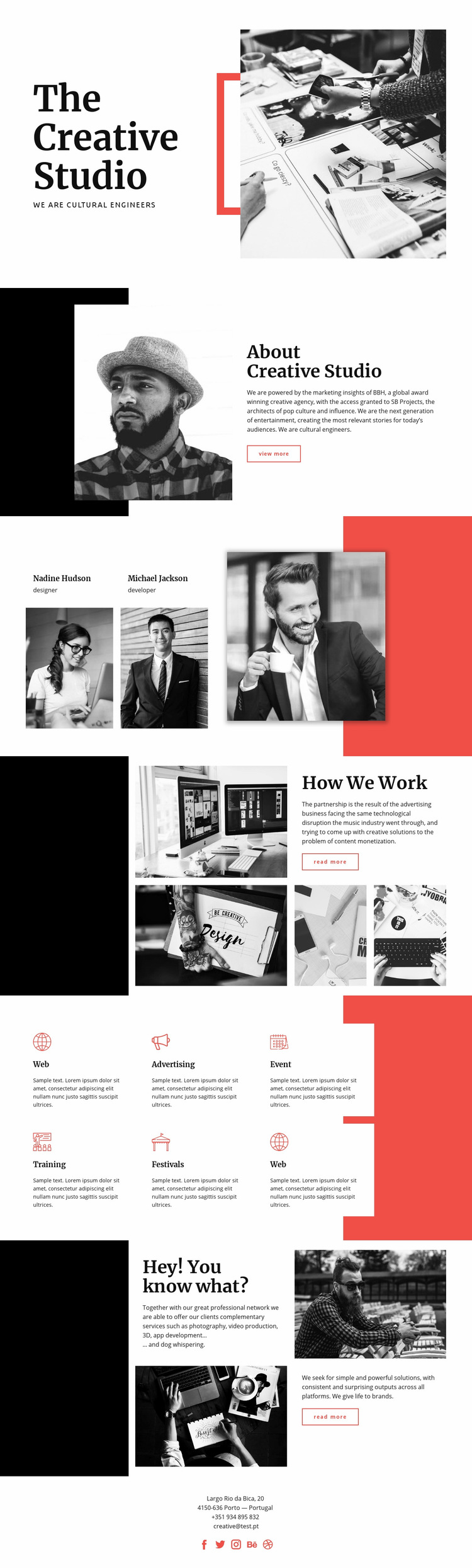 The Creative Studio Web Page Design